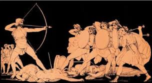 Ulysses Killing the Suitors of Penelope homer