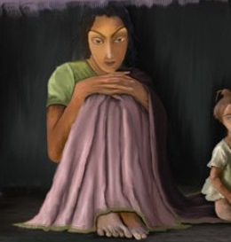 a-poor-girl-painting-by-gagandeep-kaur-crop